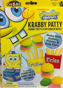 Spongebob Squarepants Krabby Patty Gummy Patty & Fry Maker Refill