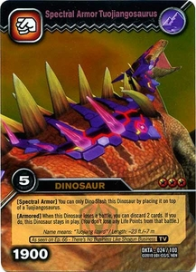 Dinosaur King Time Warp Adventures Single Card Gold Foil DKTA-024 Spectral Armor Tuojiangosaurus