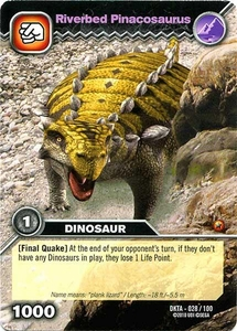 Dinosaur King Time Warp Adventures Single Card Common DKTA-028 Riverbed Pinacosaurus