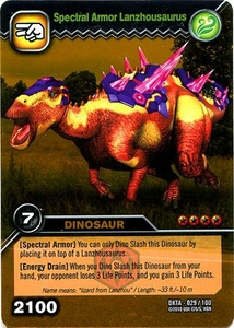 Dinosaur King Time Warp Adventures Single Card Gold Foil DKTA-029 Spectral Armor Lanzhousaurus
