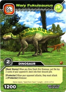 Dinosaur King Time Warp Adventures Single Card Common DKTA-034 Wary Fukuisaurus