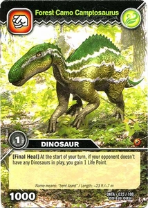 Dinosaur King Time Warp Adventures Single Card Common DKTA-035 Forest Camo Camptosaurus