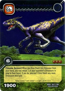 Dinosaur King Time Warp Adventures Single Card Silver Foil DKTA-037 Pouncing Utahraptor