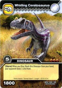 Dinosaur King Time Warp Adventures Single Card Common DKTA-038 Whirling Ceratosaurus