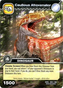 Dinosaur King Time Warp Adventures Single Card Common DKTA-039 Cautious Afrovenator