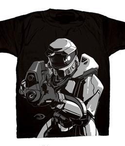 Halo 3 Adults T-Shirt Pointing A Gun