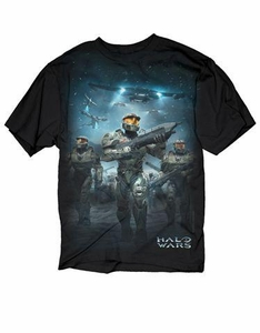 Halo Adults T-Shirt Halo Wars Battle Scene