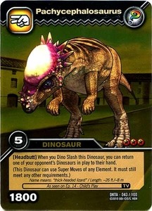 Dinosaur King Time Warp Adventures Single Card Gold Foil DKTA-043 Pachycephalosaurus