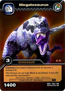 Dinosaur King Time Warp Adventures Single Card Gold Foil DKTA-044 Megalosaurus
