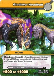 Dinosaur King Time Warp Adventures Single Card Common DKTA-045 Gladiator Headbutt