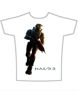Halo 3 Adults T-Shirt Master Chief Logo