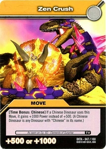 Dinosaur King Time Warp Adventures Single Card Common DKTA-047 Zen Crush