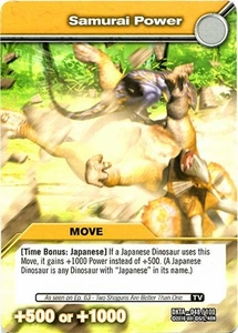 Dinosaur King Time Warp Adventures Single Card Common DKTA-048 Samurai Power