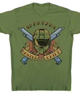Halo 3 Adults T-Shirt Spartans Tatoo
