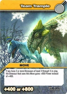 Dinosaur King Time Warp Adventures Single Card Common DKTA-051 Team Trample