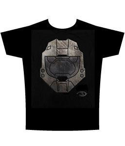 Halo 3 Adults T-Shirt Faded Metal Helmet
