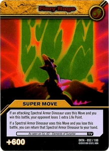 Dinosaur King Time Warp Adventures Single Card Silver Foil DKTA-052 Fiery Rage