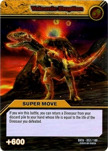 Dinosaur King Time Warp Adventures Single Card Silver Foil DKTA-053 Volcanic Eruption