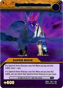Dinosaur King Time Warp Adventures Single Card Silver Foil DKTA-055 Spectral Shockwave