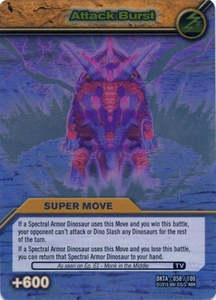 Dinosaur King Time Warp Adventures Single Card Silver Foil DKTA-058 Attack Burst