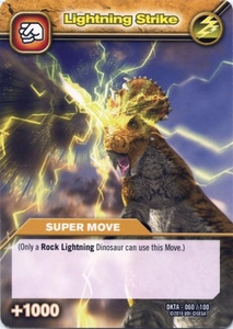 Dinosaur King Time Warp Adventures Single Card Common DKTA-060 Lightning Strike