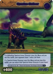 Dinosaur King Time Warp Adventures Single Card Silver Foil DKTA-061 Quake Saber