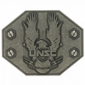 Halo 4 Belt Buckle UNSC Antique Metal