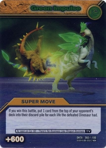 Dinosaur King Time Warp Adventures Single Card Silver Foil DKTA-065 Green Impulse
