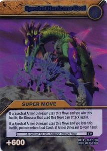 Dinosaur King Time Warp Adventures Single Card Silver Foil DKTA-067 Spectral Hurricane Beat