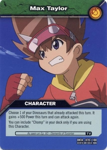 Dinosaur King Time Warp Adventures Single Card Common DKTA-070 Max Taylor