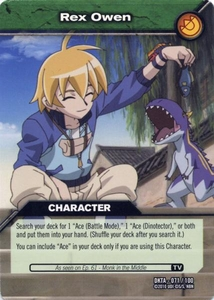 Dinosaur King Time Warp Adventures Single Card Common DKTA-071 Rex Owen