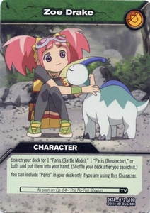 Dinosaur King Time Warp Adventures Single Card Common DKTA-072 Zoe Drake