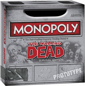 Monopoly Exclusive Board Game Set Walking Dead Comic Survival Edition