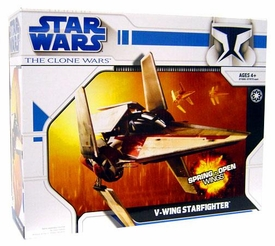Star Wars Clone Wars Animated Series Vehicle V-Wing Starfighter BLOWOUT SALE!