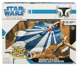 Star Wars Clone Wars Animated Series Vehicle Anakin Skywalker's Modified Jedi Starfighter
