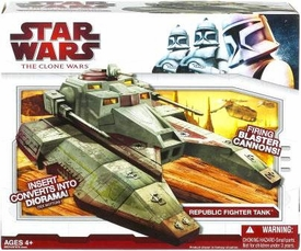 Star Wars 2009 Clone Wars Vehicle Republic [Saber] Fighter Tank