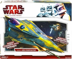 Star Wars 2009 Clone Wars Vehicle Anakin's Jedi Starfighter
