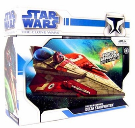 Star Wars 2009 Clone Wars Vehicle Obi-Wan's Delta 2 Starfighter