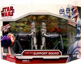 Star Wars 2009 Clone Wars Vehicle Figure Pack Turbo Tank Support Squad