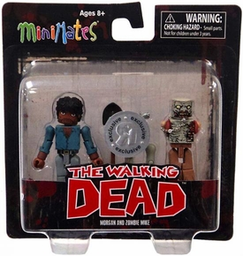 Walking Dead Minimates Exclusive Mini Figure 2-Pack Morgan & Zombie Mike