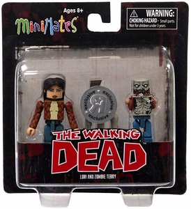 Walking Dead Minimates Exclusive Mini Figure 2-Pack Lori & Zombie Terry