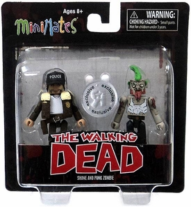 Walking Dead Minimates Exclusive Mini Figure 2-Pack Shane & Punk Zombie