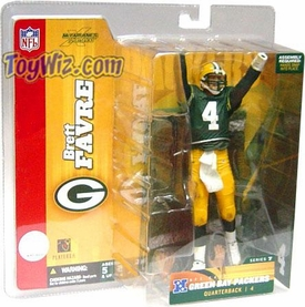 McFarlane Toys NFL Sports Picks Series 7 Action Figure Brett Favre (Green Bay Packers) Green Jersey