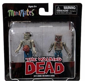 Walking Dead Minimates Series 1 Mini Figure 2-Pack Guts Zombie & Burned Zombie [Herd Zombies]