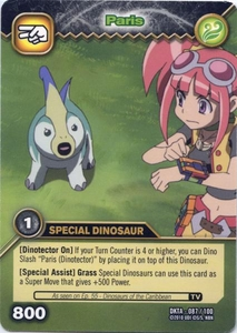Dinosaur King Time Warp Adventures Single Card Common DKTA-087 Paris