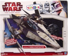 Star Wars 2009 Clone Wars Exclusive Deluxe Vehicle Imperial V-Wing Starfighter