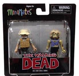 Walking Dead Minimates Series 1 Mini Figure 2-Pack Dale & Female Zombie