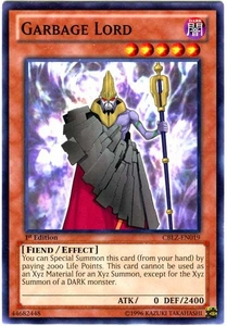 YuGiOh Zexal Cosmo Blazer Single Card Common CBLZ-EN019 Garbage Lord