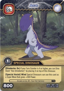 Dinosaur King Time Warp Adventures Single Card Common DKTA-089 Ace