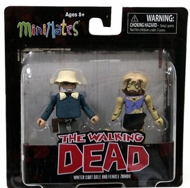 Walking Dead Minimates Series 1 Mini Figure 2-Pack Winter Coat Dale & Female Zombie [Variant]